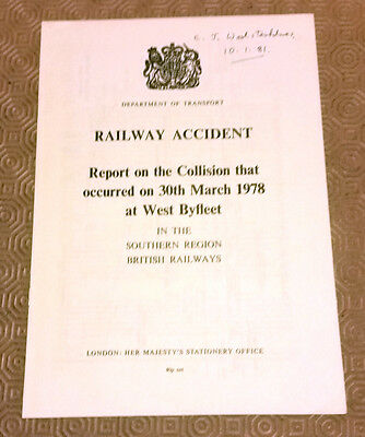 Railway Accident Report Collision Southern Electric EMU West Byfleet March 1978