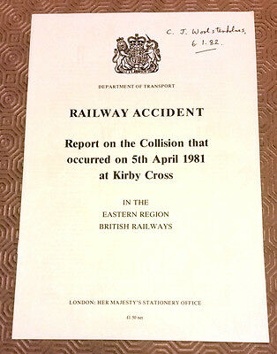 Railway Accident Report Collision Class 312 EMUs Kirby Cross 5th April 1981
