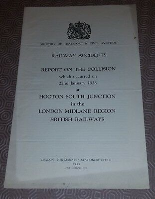 Railway Accident Report Collision Hooton South Junction 22nd January 1958