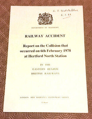 Railway Accident Report 31192 Class 31 Hertford North Station 1978