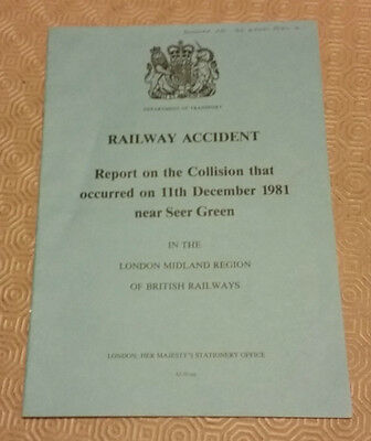 Railway Accident Report Collision Class 115 DMUs Seer Green 11th Dec 1981 (2)