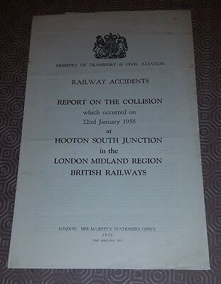 Railway Accident Report Collision Hooton South Junction 22nd January 1958 (2)