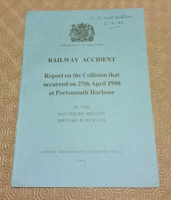 Railway Accident Report Collision Southern Electric EMU Portsmouth April 1980