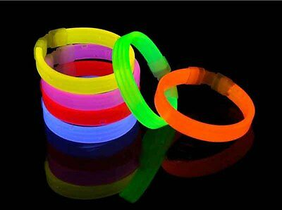 7.7inch Glow Light Sticks Bracelets 6 Colors Light Glowing Party Favors Rally