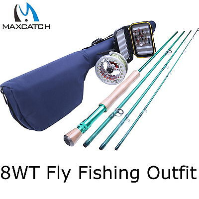 8WT Fly Rod And Reel Combo 7/8WT Aluminum Fly Reel & Fly Box & Flies & Fly Line