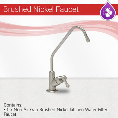 Reverse Osmosis Non Air Gap Brushed Nickel Finished kitchen Water Filter Faucet