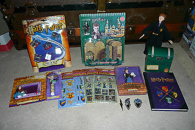 16pc Harry Potter Collectable Lot Castle Building Set Stickers Ornament