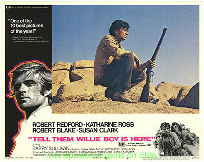 TELL THEM WILLIE BOY IS HERE LOBBY CARD size MOVIE POSTER 3 Card's ROBERT BLAKE