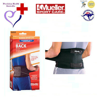 Mueller Adjustable Back Brace (Lumbar Support for Weak or Injured Backs)