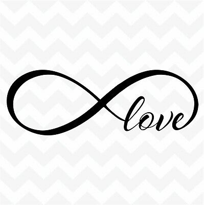 cdf6ad6114a INFINITY LOVE vinyl wall art sticker family words for home bedroom car  symbol