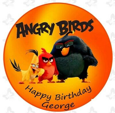 Angry Birds Movie Edible Cake Image Icing Birthday Personalised Topper