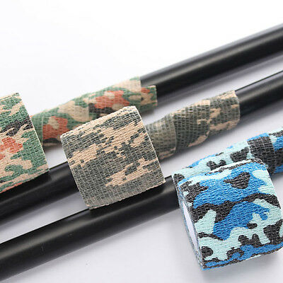 5cm x 4.5m Bande Ruban Adhesif Rouleau Militaire Camou Paintball Camouflage Neuf