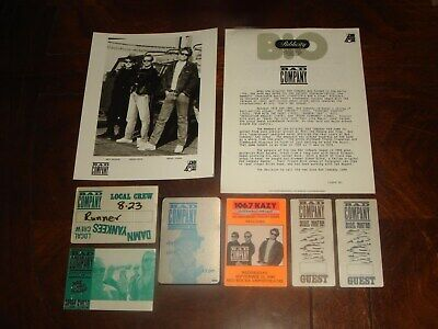 LOT of 6 BAD COMPANY 1988 PRESS KIT and CONCERT MEMORABILIA BACKSTAGE PASSES