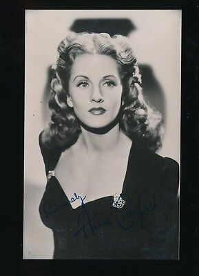 Film Theatre ANNE CRAWFORD personally SIGNED photo
