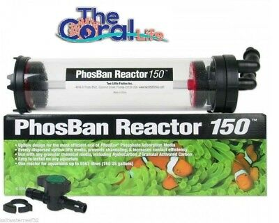 Two Little Fishies Phosban Reactor 150 For Phosphate Removal - Free Npx Screen