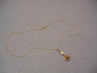 14KT. Victorian diamond Chip Necklace Vintage