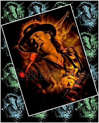 Stevie Ray Vaughan Poster Photo 16x20 inch Ltd Ed Custom Design Art Print   LFE7