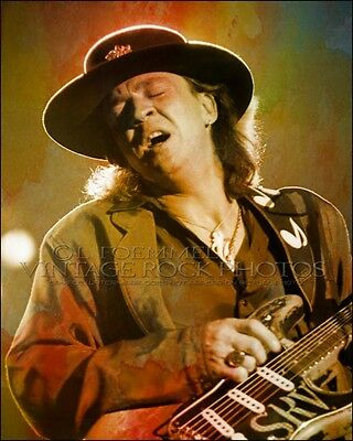 Stevie Ray Vaughan Poster Photo 16x20 inch Ltd Ed Custom Design Art Print   LFE9