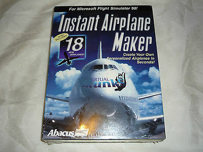 Instant Airplane Maker- BIG BOX Edition- NEW/SEALED! For Microsoft Flight Sim 98