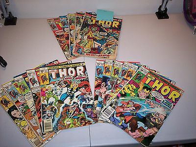 The Mighty Thor 1970's Marvel Comics 25 Book Lot