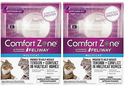 2x Comfort Zone Multicat Feliway Diffuser For Cats Tension & Conflicts