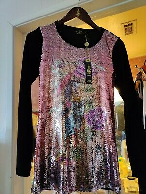 Christian Audigier gorgeous dress + made in USA S - pre owned in great condition