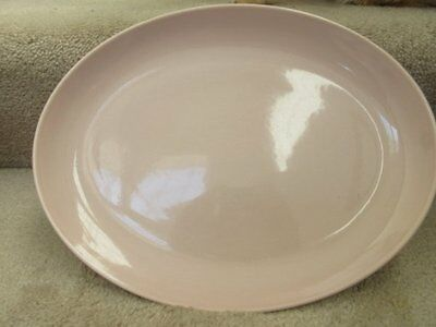 Iroquois Casual China Russel Wright 14.5 Inch Oval Serving Platter Pink EUC
