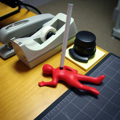 Quirky Dead Fred Pen Holder Fantastic Red Silicone Rubber Gag Mystery Gift