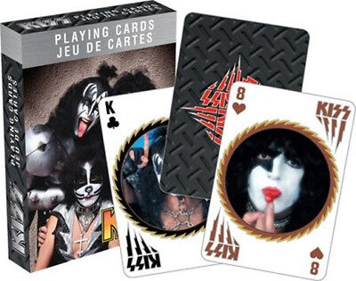 Kiss Rock Music Group Photo Illustrated Poker Size Playing Cards, MINT SEALED