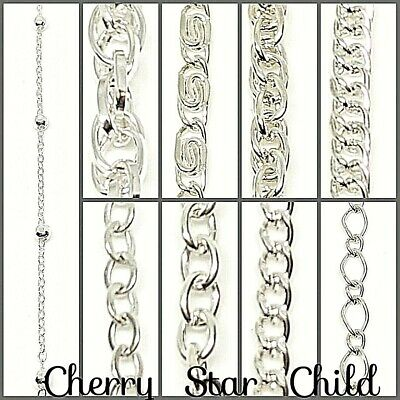 50cm silver pl decorative chain for necklace bracelet craft findings