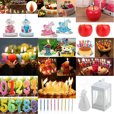Décorations Colorful Glitter HappyBirthday Lettres Toothpick Gâteau Bougie Party