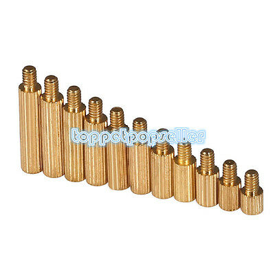 M2*3+3-M2*25+3 Knurled Spacer Stand-Off Male-Female Brass Threaded HOT