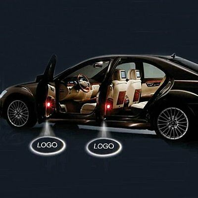 2x LED Car Door Logo Laser Projector Ghost Shadow Welcome Decoration Safe Light