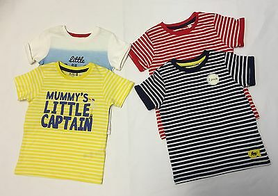 ExStore Baby Boys 2 Pack Short Sleeve Cotton Summer T-Shirts Tops 0 - 24 Months