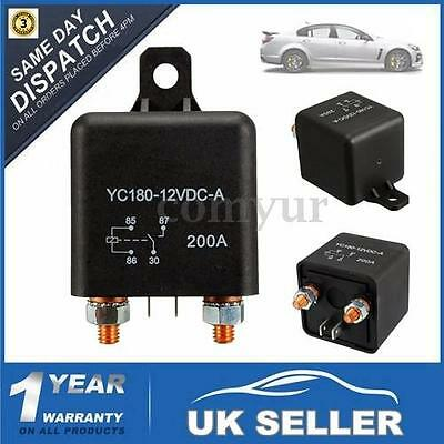 200 AMP 12V 4-Pin Car Automotive Relay Switch ON/OFF HEAVY DUTY SPLIT CHARGE -UK