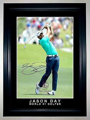 Jason Day World #1 Golfer A3 Framed Signed Action Photo