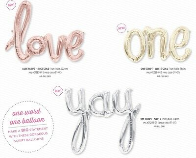 Love One Yay Party Fun Hello Baby Script Foil Balloon Air Birthday Wedding