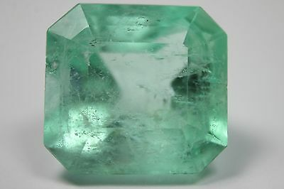 Gigantic Beauty! 39.80cts Loose Natural Colombian Emerald ~Emerald Cut