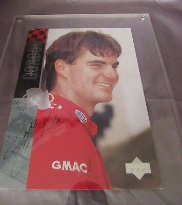 Jeff Gordon 1995 Upper Deck Signed Photo Card Aak19735 Os3
