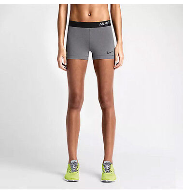 NWT Women's Nike Pro Compression Shorts Grey (589364-091)