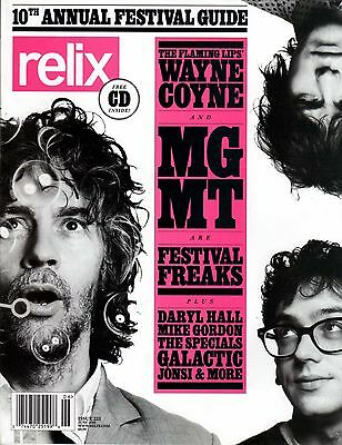 """RELIX #223 """"Flaming Lips,MGMT,Daryl hall,Specials,Galactic"""" (Revue US)"""