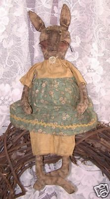 Primitive Rabbit Prim Bunny Doll ~ Easy To Make ~ Perfectly Prim ~ Year Round