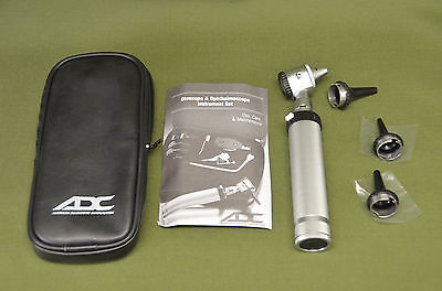 ADC Otoscope 5211 Silver Diagnostic Ear with Soft Case and Specula