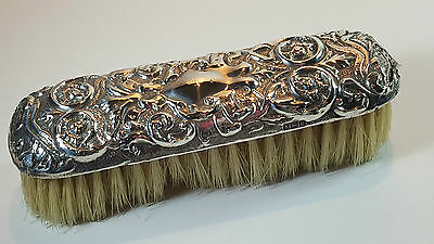 Antique Art Nouveau Hm Sterling Silver Clothes Brush Birmingham 1906