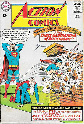 Action Comics Comic Book #327 Superman, DC Comics 1965 FINE/FINE+