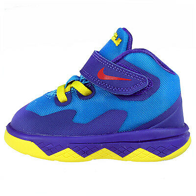 df8ea8f5827 Nike Lebron Soldier 8 Blue Purple James Basketball Baby Td Sz 4-10 653647-