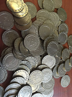 Slot Machine Tokens - .984 Size - Lot Of 100 - Us Cruise Ship