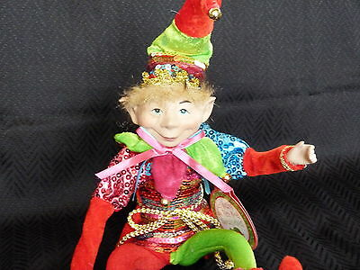 """Posable Elf 21"""" Pink Red Green Blue Christmas Birthday Fairy decoration NEW!"""