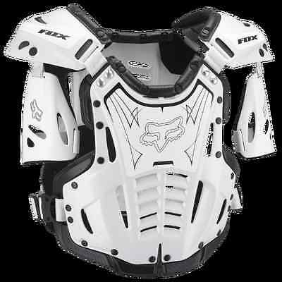 FOX RACING Large Airframe ATV ADULT OFFROAD MX CHEST PROTECTOR L White/Black