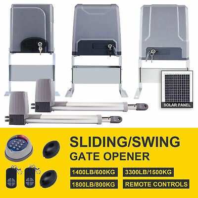 Electric Automatic Sliding Gate Opener 1400 lbs Driveway & Remote Control